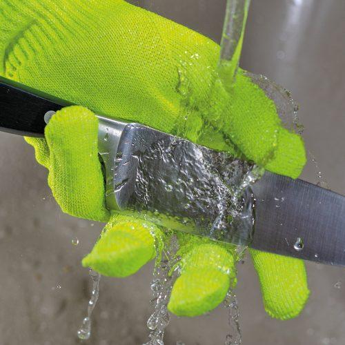 Gant déperlant avec couteau (protection contre la coupure) et filet d'eau qui ne s'infiltre pas dans le gant.